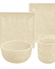 HiEnd Accents Savannah 16-Piece Dinnerware Set - Cream
