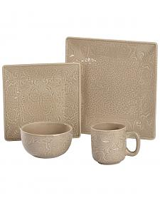 HiEnd Accents Savannah Taupe 16 Piece Dinnerware Set