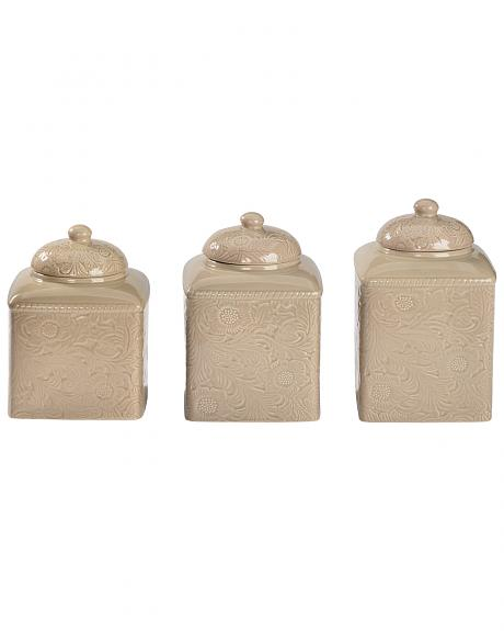 HiEnd Accents Savannah Taupe Canister Set