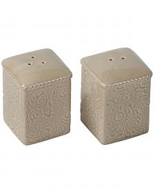 HiEnd Accents Savannah Salt & Pepper Shakers - Taupe