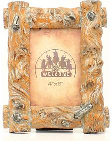 Western Moments 4X6 Resin Tree Trunk Frame