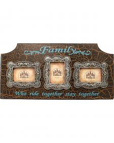 "Western Moments ""Family Who Ride Together"" Triple-Window Frame"