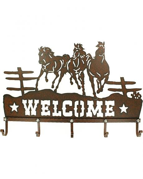 Western Moments Metal Welcome Hanging Hooks