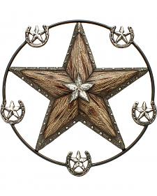 Western Moments Star and Horseshoe Wall Hanger