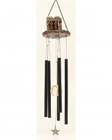 Western Moments Cowboy Boot and Gun Wind Chime