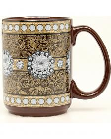 Western Moments Floral Studded Concho Mug