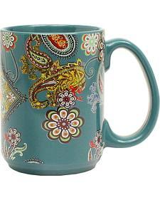 Western Moments Paisley Turquoise Mug