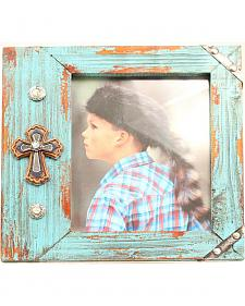 Western Moments Turquoise Cross Frame