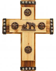 Western Moments Cowboy Prayer Wall Cross