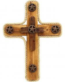 Western Moments Star Wooden Wall Cross