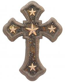 Western Moments Cast Iron Amber Star Wall Cross