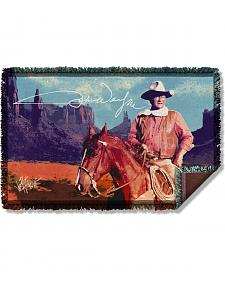 John Wayne Monument Man Woven Throw