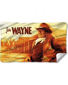 John Wayne Old West Fleece Blanket