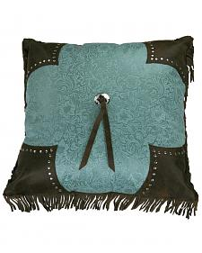 HiEnd Accents Scalloped Edge Cheyenne Fringe Pillow