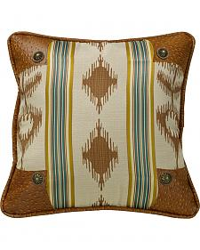 HiEnd Accents Alamosa Pillow with Conchos