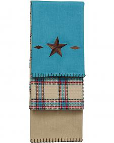 HiEnd Accents Turquoise Star Kitchen Towel - Set of 3
