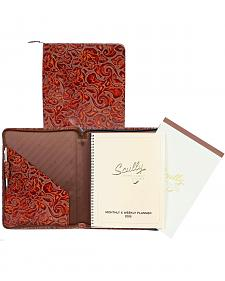 Scully Tooled Leather Weekly Planner & Pad