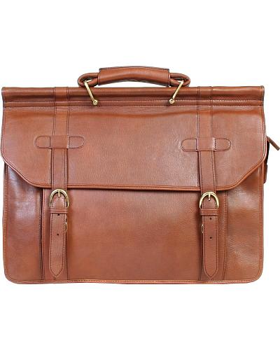 HiDesign by Scully Tan Handstained Calfskin Overnight Work Bag Western & Country H164-07-23