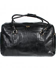 Scully Black Leather Oversized Duffel Bag