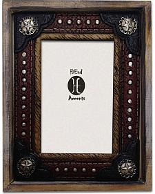 """HiEnd Accents Western Concho Studded Photo Frame - 4"""" x 6"""""""