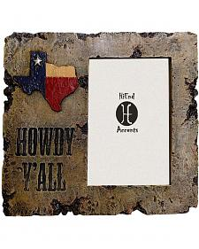 "HiEnd Accents Howdy Y'all Texas Photo Frame - 4"" x 6"""