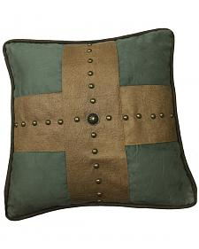 HiEnd Accents Las Cruces II Studded Cross Pillow