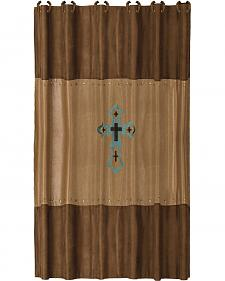 HiEnd Accents Las Cruces Embroidered  Shower Curtain