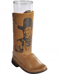 John Wayne Leather Boot Shot Glass