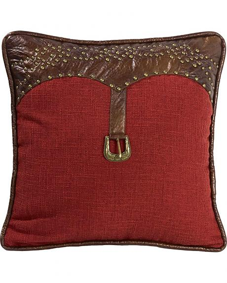HiEnd Accents Ruidoso Square Red Throw Pillow