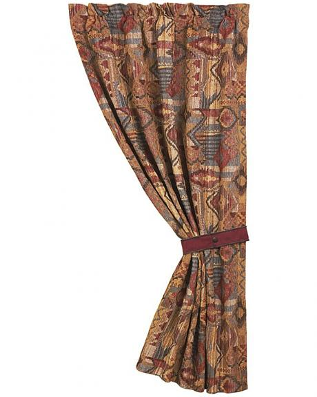 HiEnd Accents Ruidoso Collection Patchwork Curtain Panel - 48