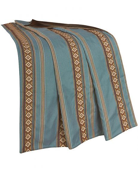 HiEnd Accents Turquoise Stripe Throw Blanket