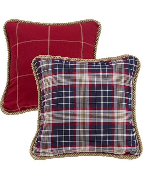 HiEnd Accents South Haven Red Windowpane Throw Pillow