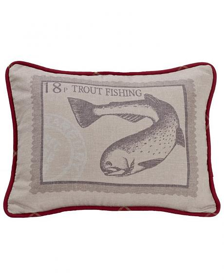 HiEnd Accents South Haven Trout Throw Pillow