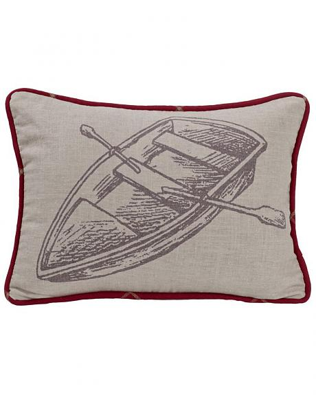 HiEnd Accents South Haven Rowboat Throw Pillow