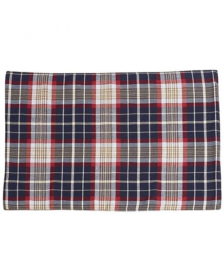 South Haven- Blue plaid placemat with rope detail Set of 4