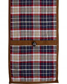 HiEnd Accents South Haven Blue Plaid & Suede Table Runner