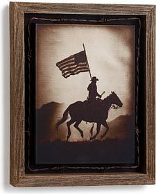 Demdaco American Cowboy Barnwood Shadow Box