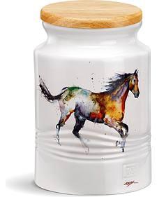 Demdaco Running Horse Medium Canister