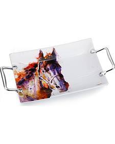 "Demdaco Poncho Horse 12"" Platter"