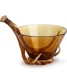 Demdaco Faux Antler Glass Bowl