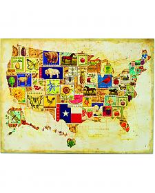 Demdaco State Icons Map Wall Art