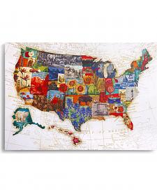 Demdaco American Backroads Map Wall Art