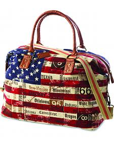 Demdaco American Flag Oversized Weekender Bag