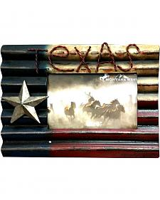 Montana West Texas Flag Metal Photo Frame
