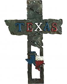 "Montana West Western Rustic Texas Resin 12"" Wall Cross"