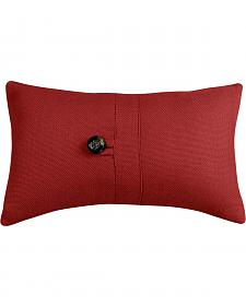 HiEnd Accents Prescott Red Oblong Button Pillow
