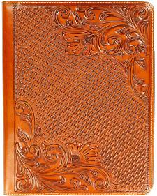 Floral Tooled Basketweave iPad 4 Case