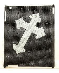 Rhinestone Embellished Diagonal Cross iPad 4 Case