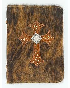 Horsehair Cross Applique Bible Cover