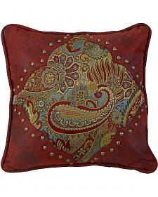 HiEnd Accents San Angelo Paisley & Leather Pillow